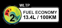 13.4 litres/100km