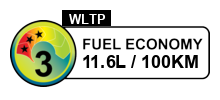 3 fuel rating stars out of 6