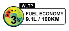 3.5 fuel rating stars out of 6