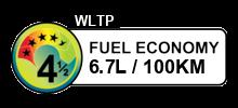 6.7 litres/100km