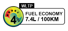 4.5 fuel rating stars out of 6