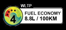 8.8 litres/100km