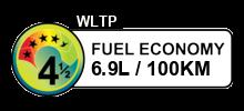 6.9 litres/100km